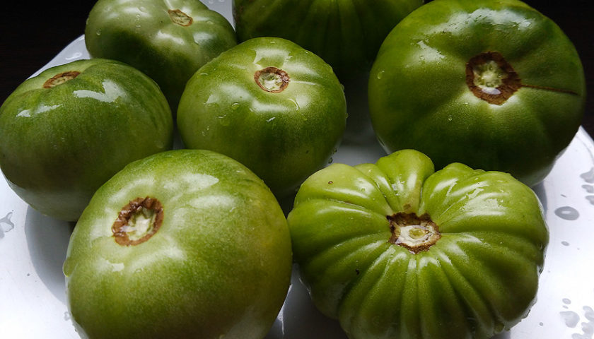 Mermelada casera de tomates verdes