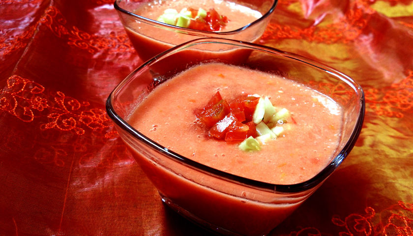 Gazpacho casero: Fácil, rápido y refrescante