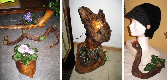 Arte con madera reciclada