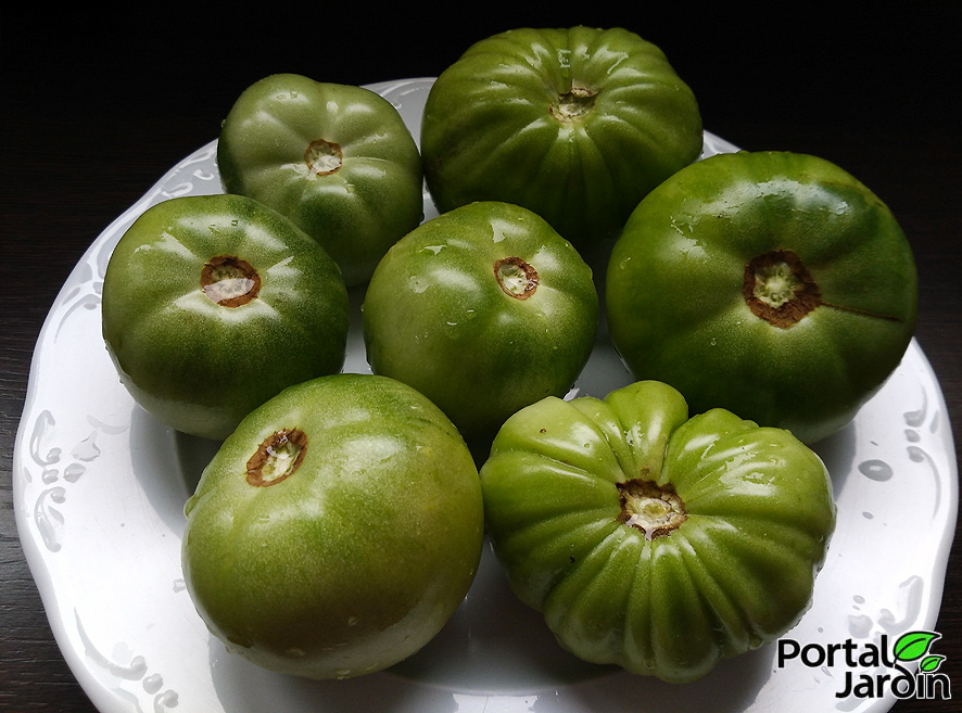 mermelada de tomates verdes
