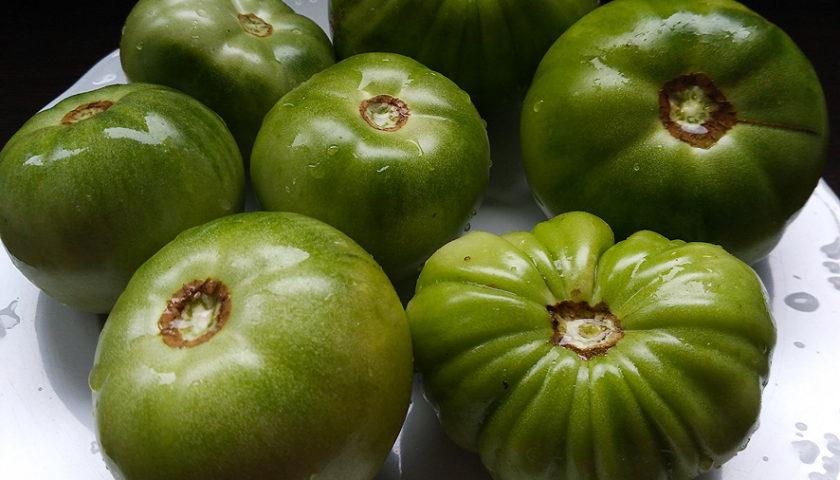 Mermelada casera de tomates verdes