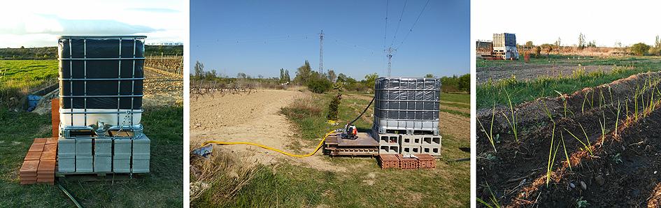 depósitos de agua para el riego