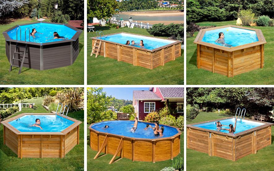 piscinas desmontables de madera