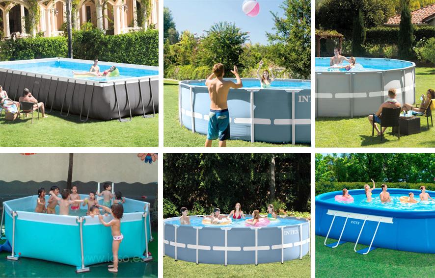 piscina de plástico tubulares