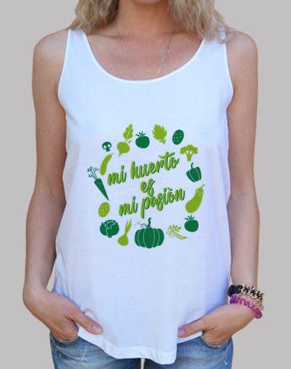 regalo camiseta mi huerto es mi pasión