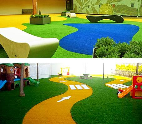 Instalación de césped artificial Portal Jardín